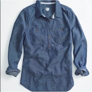 Toms Denim Button Down Shirt Top